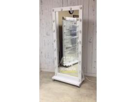 Выполненная работа: гримерное зеркало с подсветкой 180х80 см из массива лиственницы (г. Саратов)